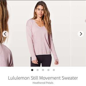 Lululemon still movement sweater- heathered petals
